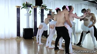 Brutal teen and hairy pussy riding first time Ballerinas