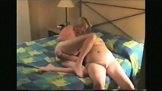 2 mature couple change sex partners in a swinging foursome