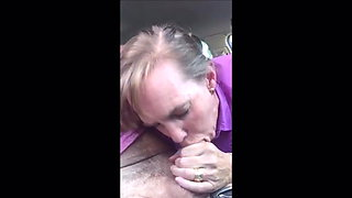Cum deep in throat of married milf in the car