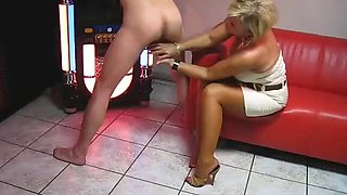 milked by 2 mistress with long red nails