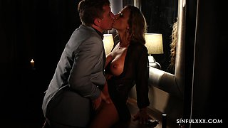 Romantic fucking at home with hot ass MILF wife Shalina Devine
