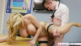 Naughty america teacher stacey saran fucking in the chair