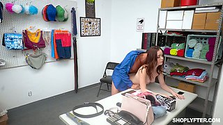 Delicious and cute teen Aliya Brynn is fucked and punished for shoplifting