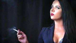 Tania M Smoking in black