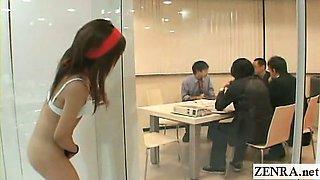 Subtitled ENF CMNF Japanese office group scavenger hunt