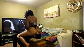 Dominant black wife makes a white guy lick her juicy holes