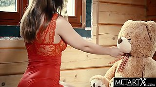 Sybil A Kailena - Perfect Girl Breasts Jiggle As She Strokes Her Shaved Pussy