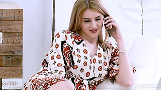 Too pale bitch with sexy rack Lina Audley gets slit pile driven hard