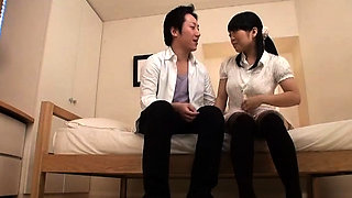 Japanese girl gets her wet big milk shakes groped and licked