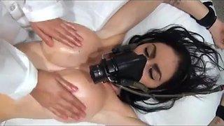 Anesthesia girl put under sleep