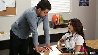 Slutty Student Seduces Her Teacher