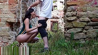 Public creampie cute teen in the ruin of a castle. Oliver Strelly
