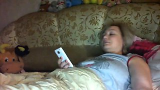 Home made Euro plays that are blonde together with her cell