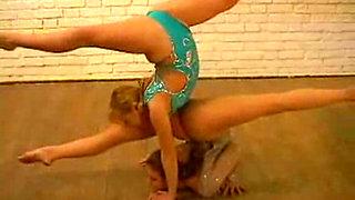 Flexible Ukrainian girls, Nastya and Vika