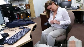 Big breasts woman nailed by pawn keeper