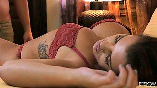 Stunning busty prisoner Keisha Grey goes wild on a hard and meaty dick