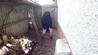 Burqa in the rain