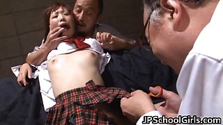 Cute school girl Rin oka fucked