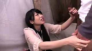 Pretty Japanese girl with lovely tits orgasms on a hard cock