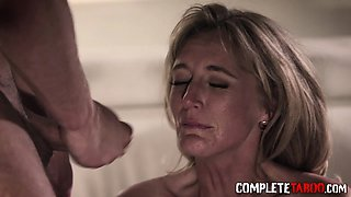 Taboo milf blows cock