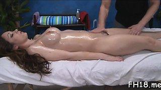 Gorgeous brunette Jordana James gets fucked hard