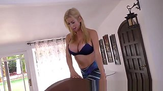 Buxom milf rides big cock