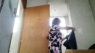 Stepmom hidden cam upskirt compression shorts