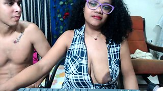 Squirt milk of my huge nipples horny black girl on webcam