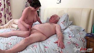 British mature lady Trisha enjoys hardcore drilling of her hole