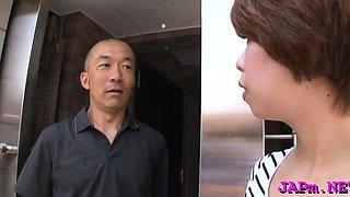 Older japanese doxy enjoys some concupiscent finger fucking