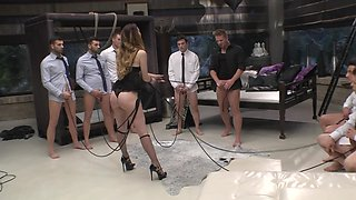 Men score throats and bottoms of Misha Cross and Candee Licious