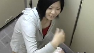 Asian pussy spied while girls pissing on toilet