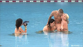 group sex in the water is the favorite summer sport for those girls