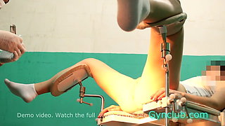 Naked girl on exam at the gynecologist (gyno)