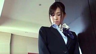 Japanese flight attendants meeting with rude boss