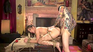 tattooed master fulfilling young babe's bdsm fantasy