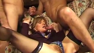 french mature fisted and anally fucked by two guys