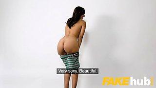 Fake Agent Spunk loving tattooed Spanish babe Claudia Bavel
