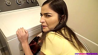 Bouncy teen Emily Willis lets her step brother perv on her
