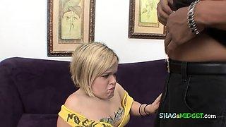 Blonde midget wants black cock