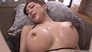 Sumire Mika is a curvy babe covered in oil and fucked well