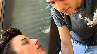 Smoking gay dude starves for a wang in his mouth and butt