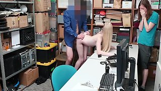 Boyfriend Forced To Watch His Girlfriend Fuck Officer After She Shoplifts