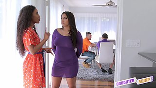 Demi Sutra and her hot friend like to fuck with two guys at once