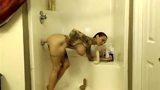 Bath Dildo Fuck