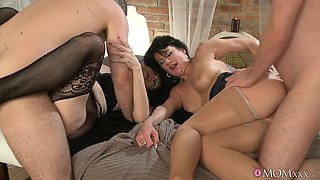Pure lust in home foursome for two married sluts on fire
