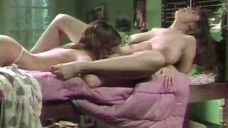 Classic vintage lesbian porno with munching of hairy puss