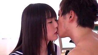 Cute Asian schoolgirls suck and fuck (Ruka Ishikawa Joins the Slut Club part 1)