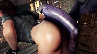 Ravishing 3D bombshell has a hung monster plowing her cunt