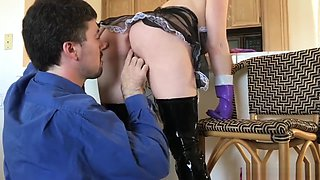 Husband can't stop fucking the maid